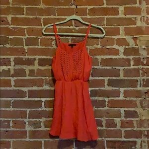 Lucca Couture coral tank top fit & flare dress